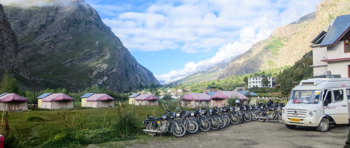 Motorcycles in Pispa Ladakh